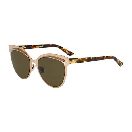 Diorinspired Sunglasses // Matte Rose Gold + Havana + Brown