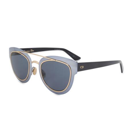 Women's Diorchromic Sunglasses // Light Gray Gold + Blue Gray