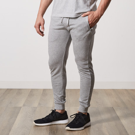 Tech Fleece Seal Zipper Pocket Joggers // Heather Gray (S)