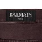 Balmain Paris // Moto Jeans // Burgundy (28)