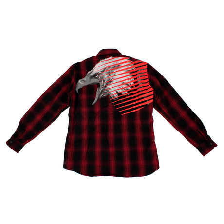 Marcelo Burlon // Plaid Lamens Shirt // Black + Red (XS)