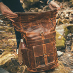 Kobuk Leather Backpack (Antique Brown)