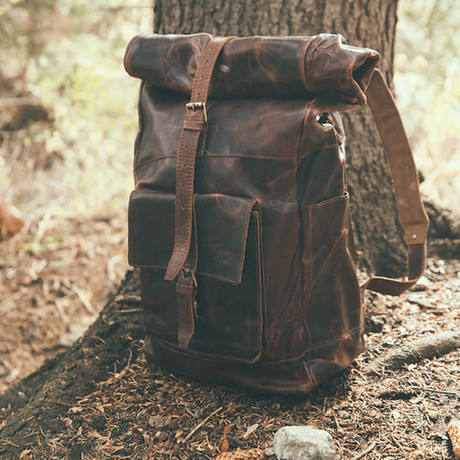 Kobuk Leather Backpack // Dark Walnut (Antique Brown)