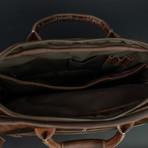 Leather Pilot's Bag (Antique Brown)