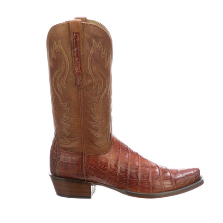 William Cai Tail Cowboy Boots // Cognac Burnished (US: 7)