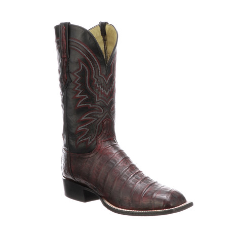 Charlie Extra Wide Cowboy Boots // Black Cherry (US: 7)