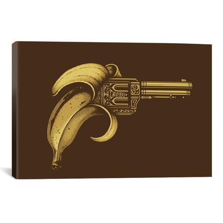 """Banana Gun // Enkel Dika (18""""W x 26""""H x 0.75""""D)"""