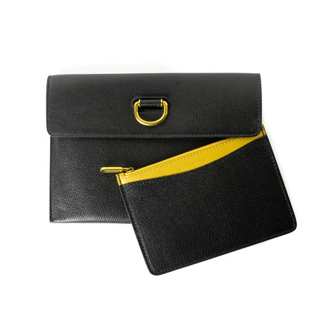 Burberry // Women's D-Ring Pouch + Zip Coin Case // Black