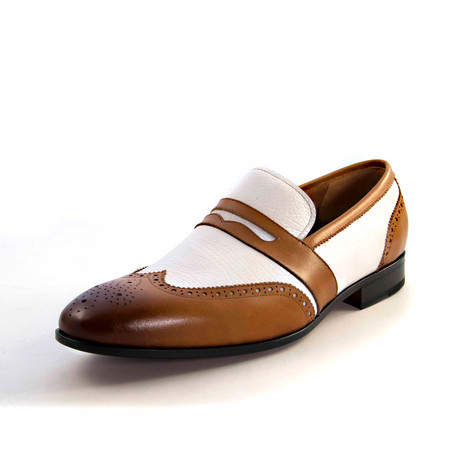 Ray Wingtip Loafer // Honey + White (US: 7)