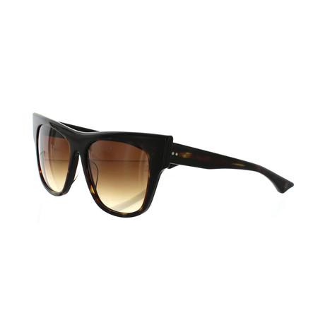 Women's Cat-Eye Sunglasses // Dark Tortoise + Burnt Brown