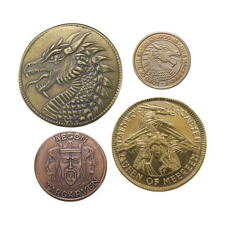 House Targaryen Set of Four Coins