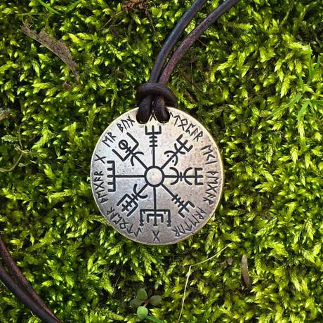 Vegvísir Norse Compass Necklace