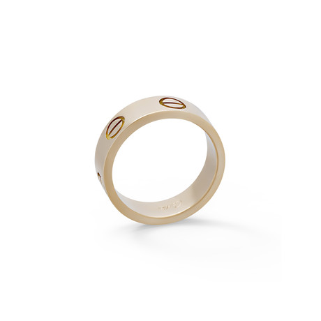 Vintage Cartier 18k Yellow Gold Love Ring // Ring Size: 5.75