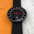 Tokyo Flash PSI // Black (Leather Strap + Black Dial)