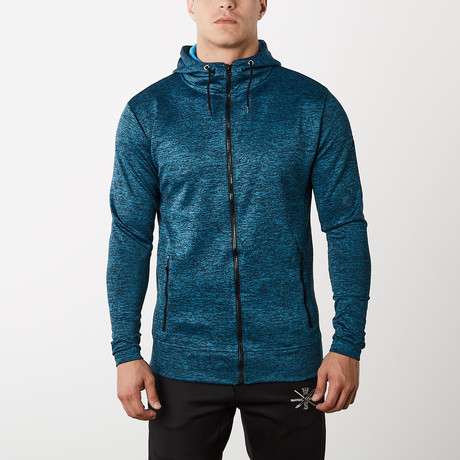 Frontier Fitness Tech Hoodie // Blue (XS)