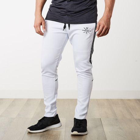The One + Only Track Joggers // White + Black (S)