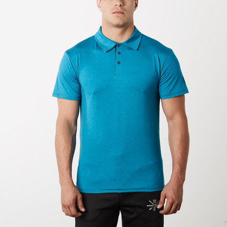 Courtside Dry Fit Fitness Tech Polo // Ocean Blue (S)