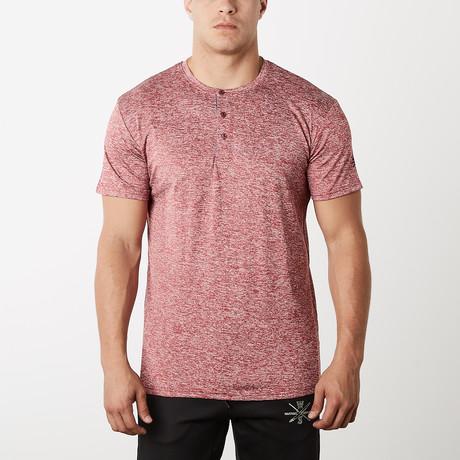 Spar Fitness Tech Short-Sleeve Henley // Red (S)