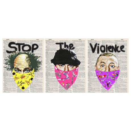 Stop the Violence // 3 Stooges // Triptych