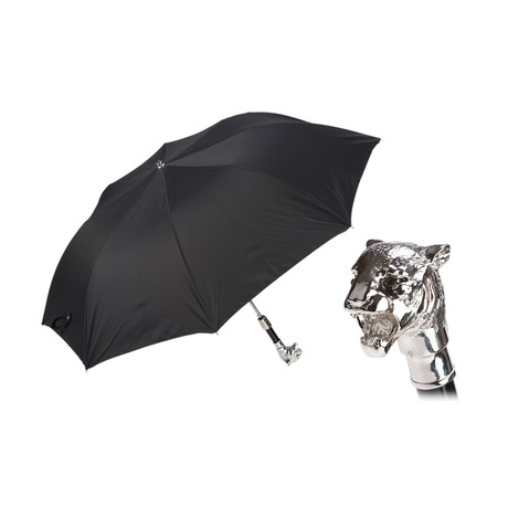 Silver Tiger Folding Umbrella