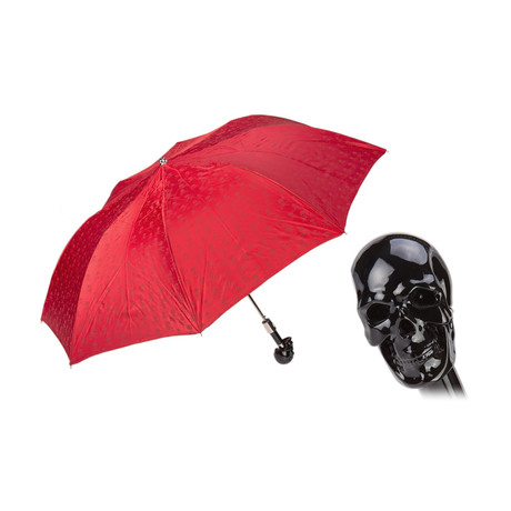 Black Skull Folding Umbrella