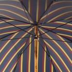 Striped Umbrella // Solid Wooden Stick
