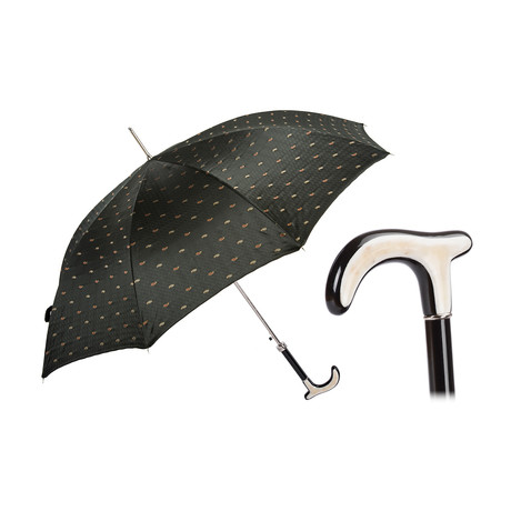 Paisley Umbrella // Water Buffalo Horn Handle