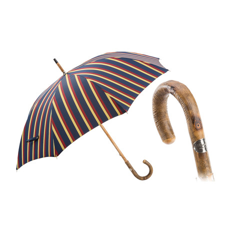Striped Umbrella // Solid Wooden Stick
