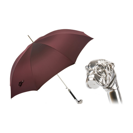 Long Umbrella // Silver Bulldog Handle