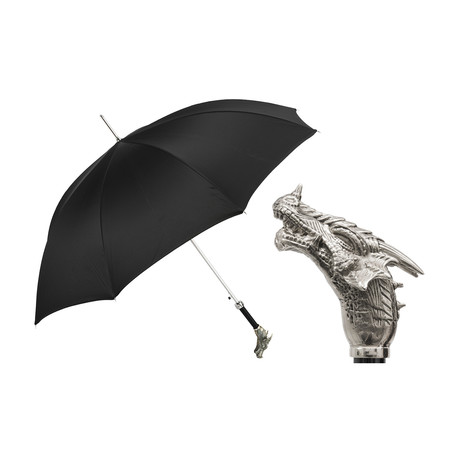 Long Umbrella // Silver Dragon Handle