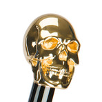 Golden Skull Umbrella