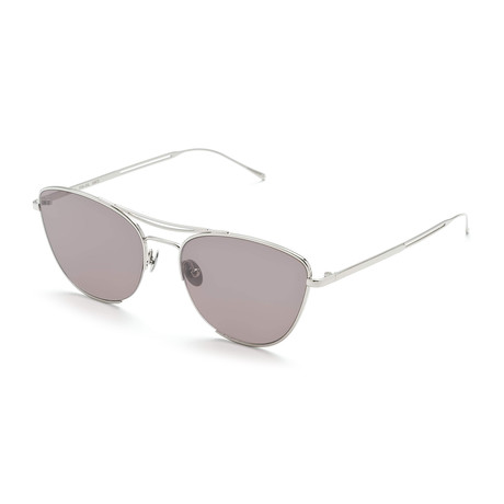 Women's Cat-Eye Sunglasses // Silver + Gray