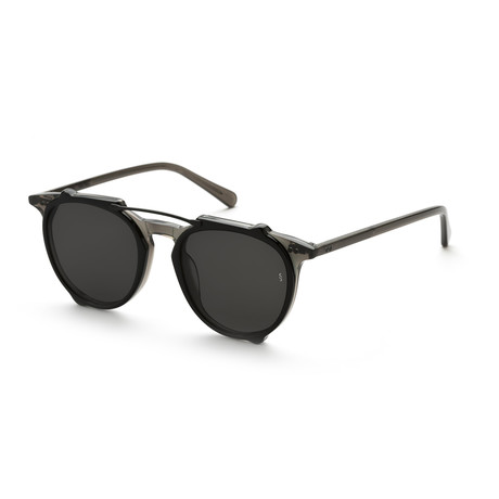 Men's Aviator Sunglasses // Transparent Gray + Black
