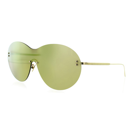 Women's Shield Sunglasses // Yellow Gold + Yellow
