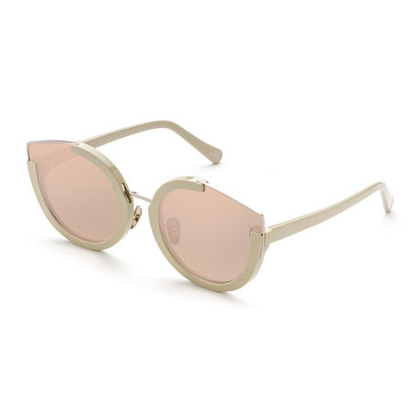 Women's Cat-Eye Sunglasses // Blush + Rose Gold
