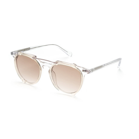 Men's Aviator Sunglasses // Crystal + Tan