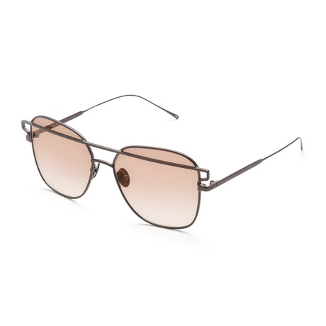 Unisex Square Sunglasses // Rose Gold + Pink