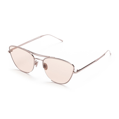 Women's Cat-Eye Sunglasses // Pink Gold + Pink