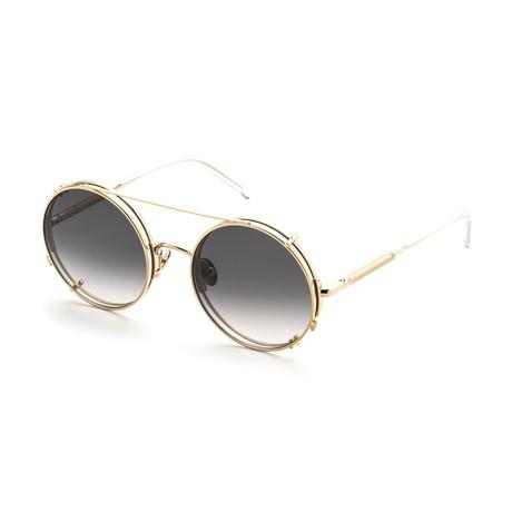 Unisex Round Sunglasses // Ale + Gray Gradient