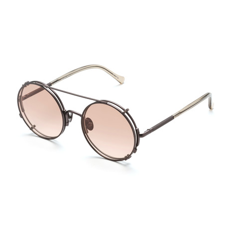 Unisex Round V2 Sunglasses // Rose Gold + Pink