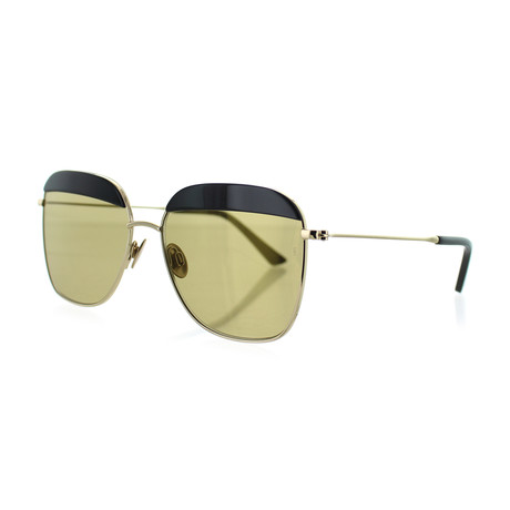 Unisex Square Sunglasses // Black + Gold