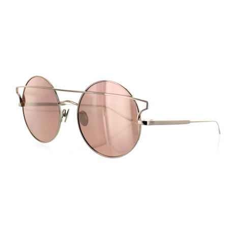 Women's Round Sunglasses // Rose Gold + Pink