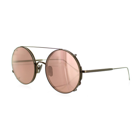 Unisex Round Sunglasses // Rose Gold + Rose Gold