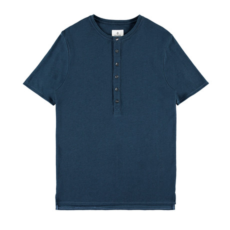 Mayfield Button Down Henley // Blue (L)
