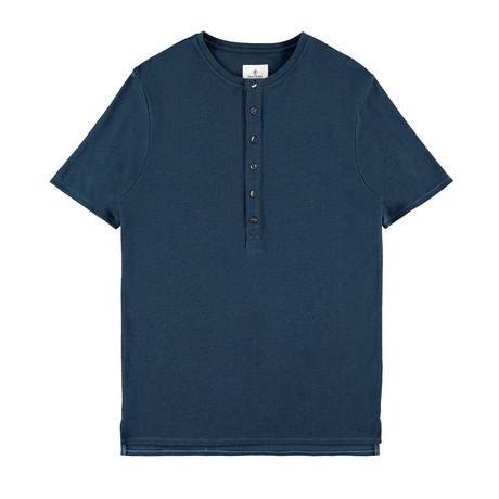 Mayfield Button Down Henley // Blue (L)