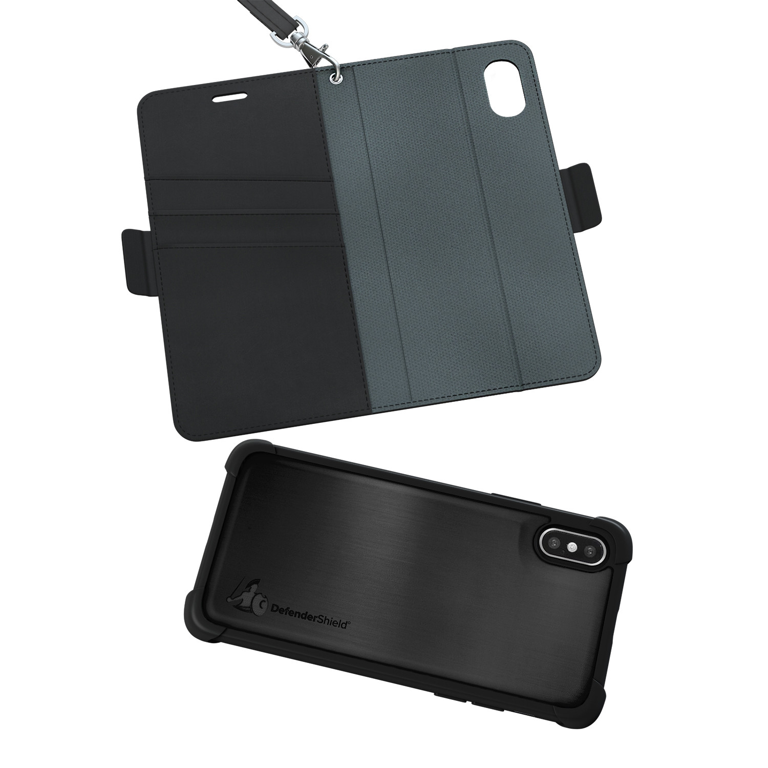 quality design 3fa78 d515c EMF Radiation Protection Wallet Case // Gray (iPhone X/XS ...