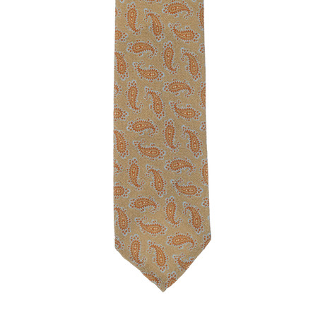 E. Formicola // Paisley Tie // Olive
