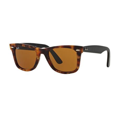 Unisex Wayfarer Sunglasses // Havana + Crystal Green