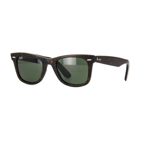 Unisex Wayfarer Sunglasses // Brown + Green