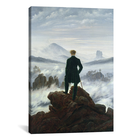 "The Wanderer above the Sea of Fog, 1818 // Caspar David Friedrich (26""W x 40""H x 1.5""D)"